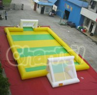 inflatable soap soccer field for soap water use