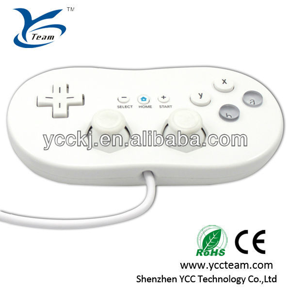 White classic USB controller nunchuck for wii game accessory