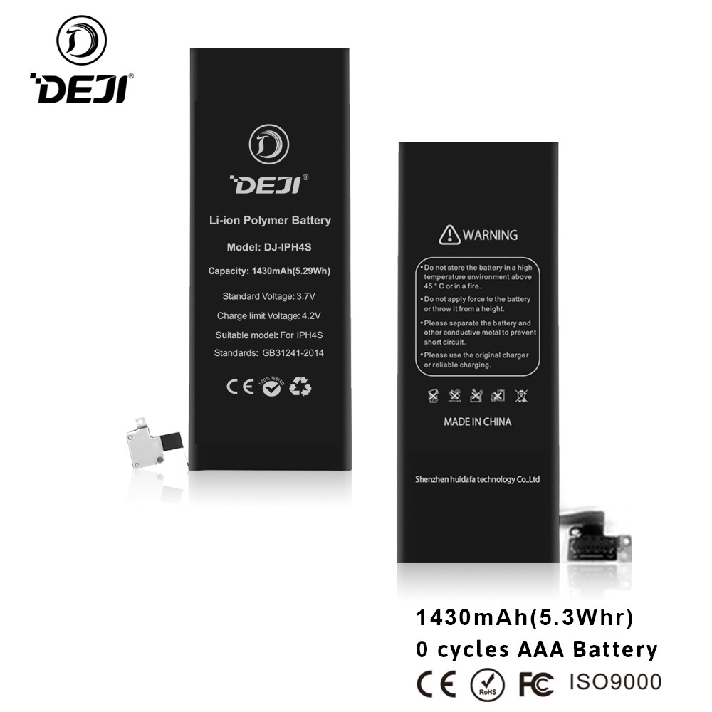 Super Phone Battery 3.7V 1420mAh for iPhone 4 Battery Lithium ion 100% Brand New
