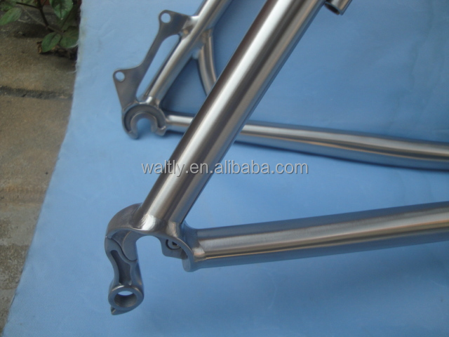 Long distance ride mountain bike titanium material frame