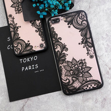 2018 Best Sell Retro Floral Phone Case Luxury Lace Flower Hard PC+TPU Back Cover for iPhone X 8 7 6 6S Plus 5S Cases