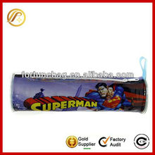 superman patern zipper school pencil bag