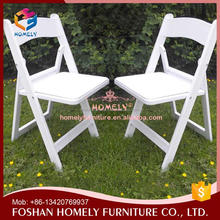 Promotion white resin folding chairs/resin wimbledon chair