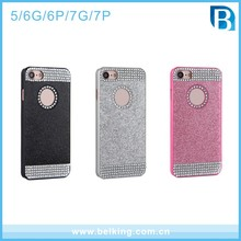 Luxury Glitter Diamond Circle PC Case For Apple iPhone5 6 6plus 7 7Plus 4.7 inch 5.5 inch