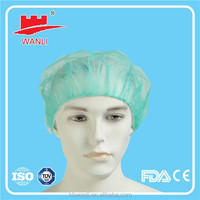 China factory PP surgical head cover pattern bouffant cap