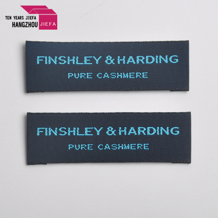 manufactory high density stitched custom woven clothing silk labels