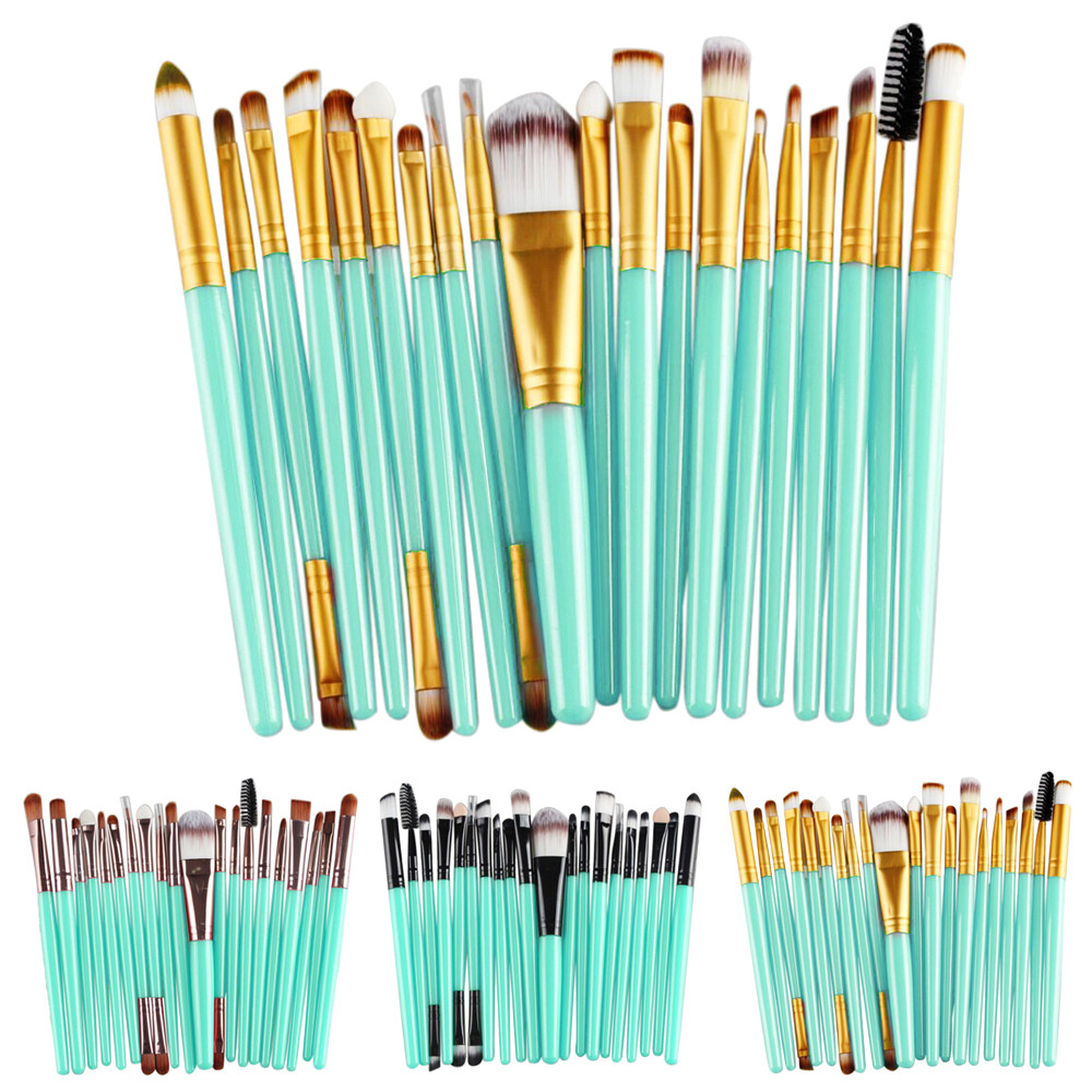 20 pcs Makeup brushes Pro hair eyebrow foundation brush pen cleaner sets Cosmetic maquiagem make up brush set Blusher cosmetics