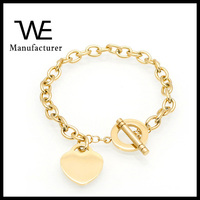 2017 Fashion Jewelry Brand Women's Stainless Steel T Link Bracelet Guangdong