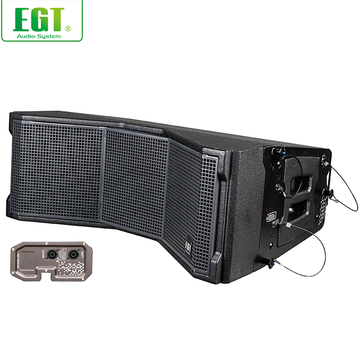 "E-LY208DSP professional club equipment audio active loudspeaker 2 x 8"", 2-way speaker"