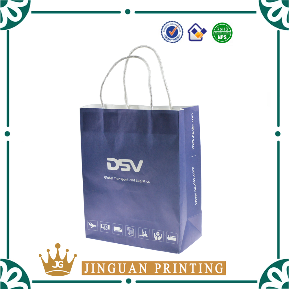 Chinese supplier customize simple cheap brown kraft paper bag with drawstring