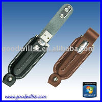 OEM 16GB,32GB 2.0 usb flash drive with Leather case for gift