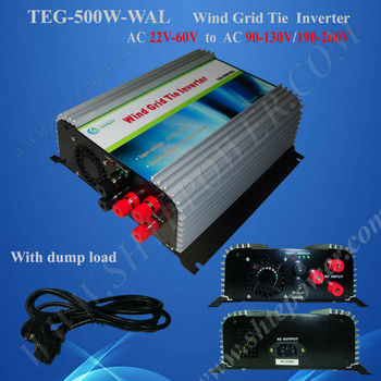 500W Grid Tie Inverter for Wind Turbine Generator, with dump load controller