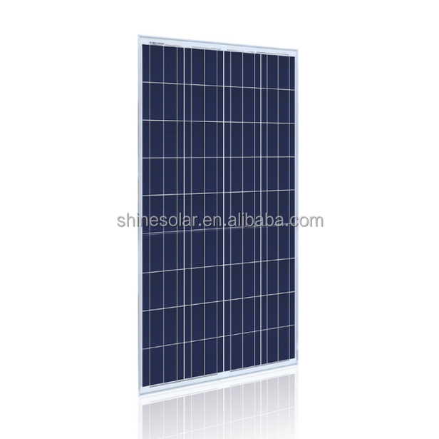 Polycrystalline Silicon Material and 1650x990x45mm Size Photovoltaic panel