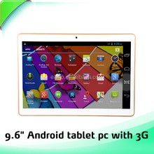 New fashion in China low prices quad core 9.6 inch tablet with MTK6598 android 4.4