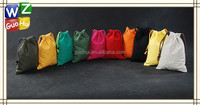 Many colors promotional fashion small cotton canvas gift bags, cotton canvas drawstring bag,