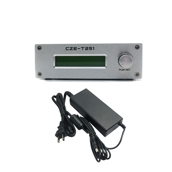 CZE-T251 FM Transmitter 0-25W Adjustable 87-108MHz Mono Stereo PLL Broadcast Station with Power Supply