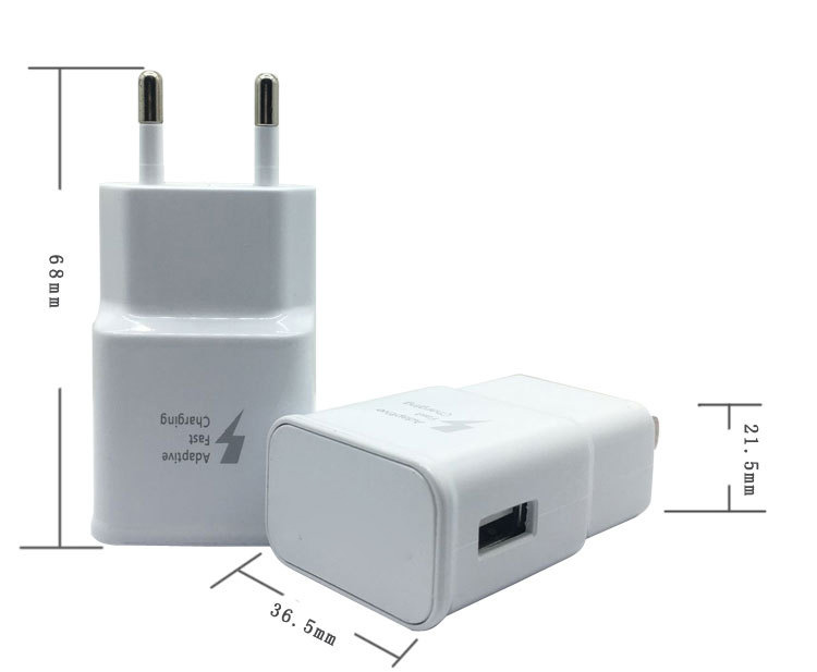 High Quality Note4/Note5/S6/S7 9V 2A universal travel adapter with usb charger for Samsung fast Charger Adatper original pack