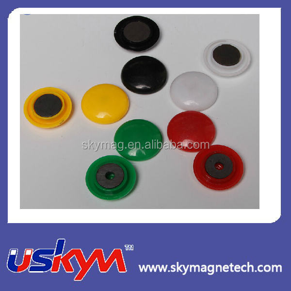 magent with plastic cover/plastic coated colorful megnet/ magnetic paper holder