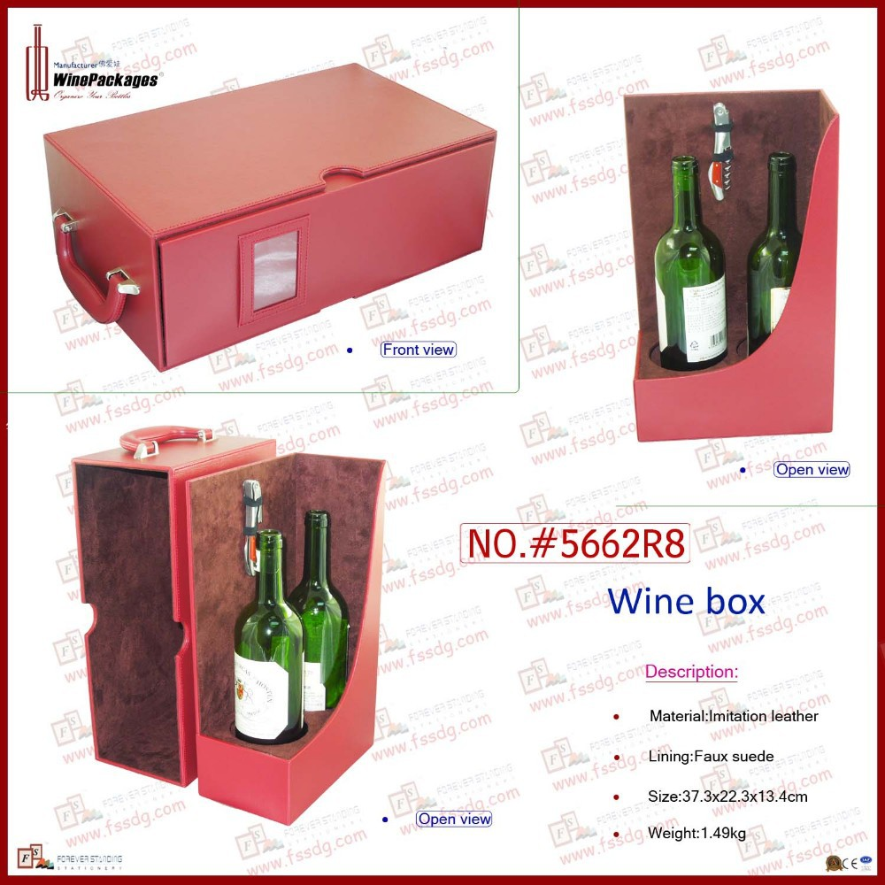 Photo frame decorative dual wine packaging box, wine box
