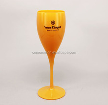 5 Ounce polycarbonate colored Stem champagne flutes glass