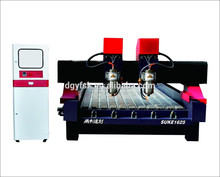 High stablity working and high cooling effect cnc stone engraving lathe with two heads