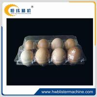 Egg tray plastic container attached lid containers made in china