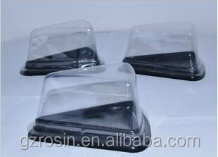 triangle plastic PET transparent sandwich packing box