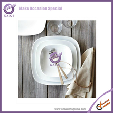 Restaurant Daily Use Super White Ceramic China Dinnerware Round And Square Wholesale Porcelain Dinner Set