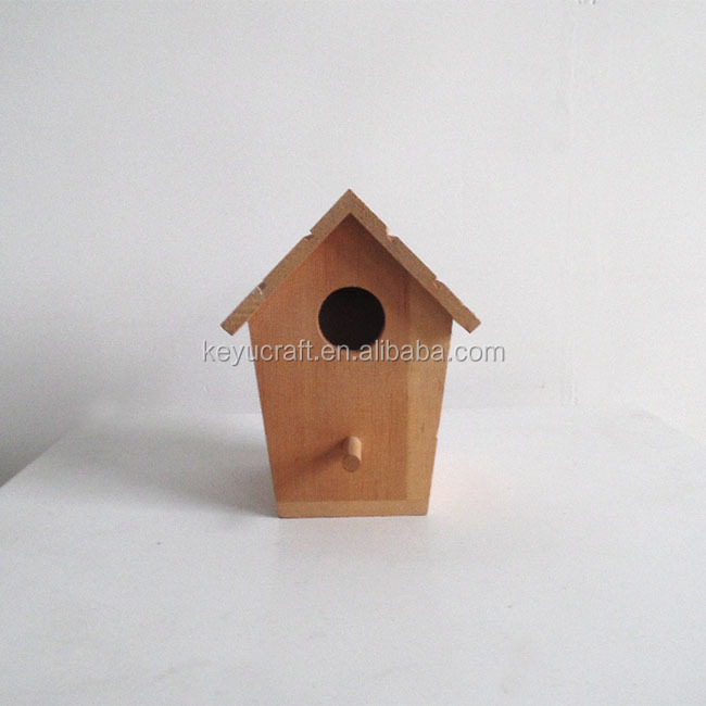 laser engraving wooden decorative bird house