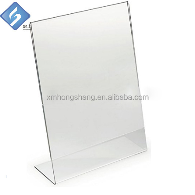 slanted acrylic sign holder 8.5 x 11