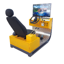 Wheel Loader and Forklift Truck Training and Examination Simulator, Machinery Training simulator with VR,3DOF