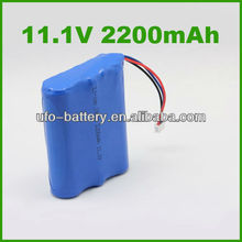 18650 2200mAh 11.1V Li-ion Battery Pack with PCM Protection