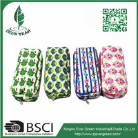 Professional Zipper School Pencil Bag 2 Layers Pencil Case