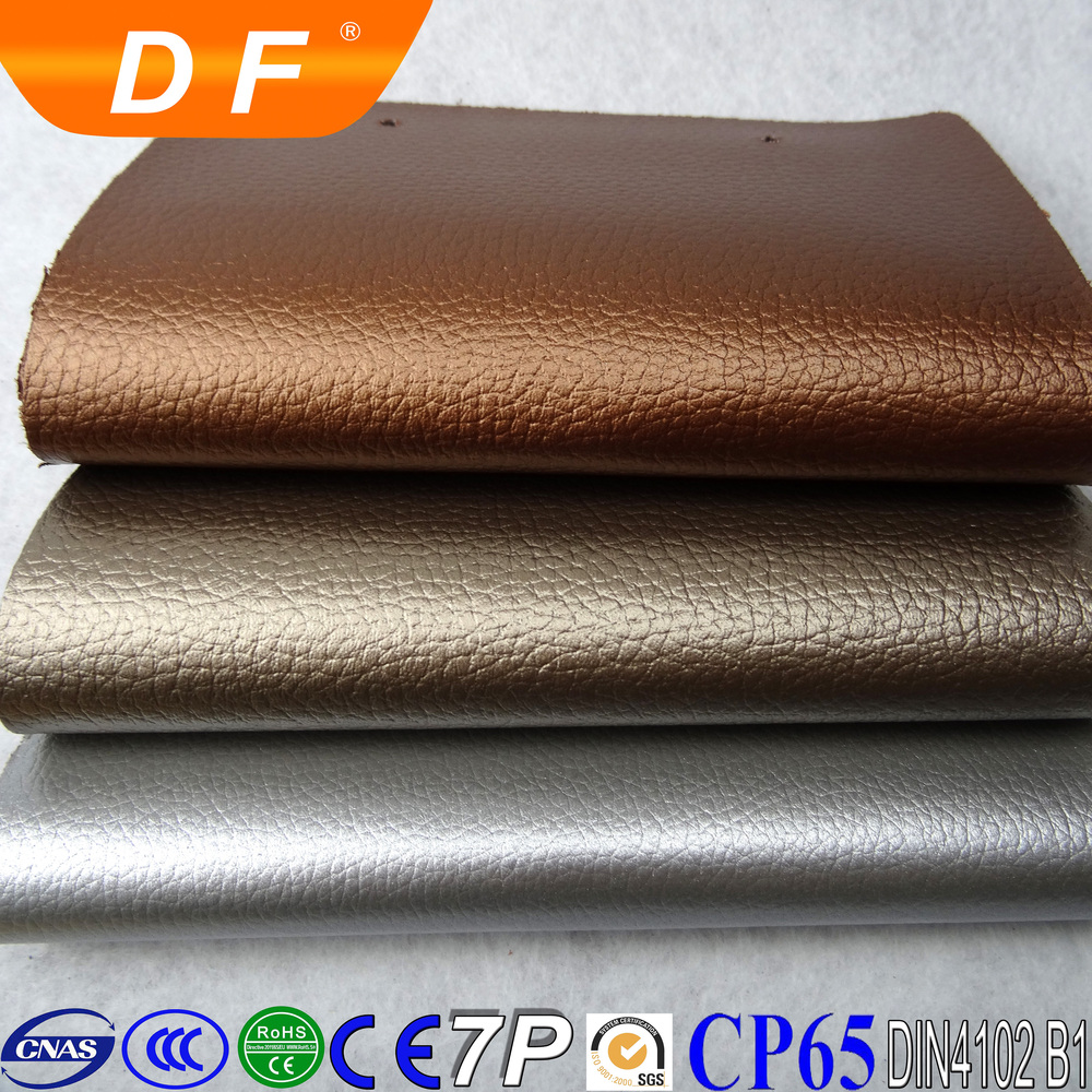 China high quality pvc furniture material pvc leather rexine leather