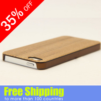 low price stock lot natural color real wood For iphone 5 wooden case
