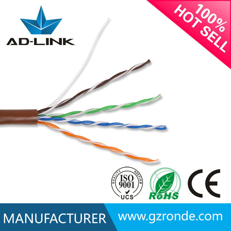 4P *24AWG 0.50MM CCA/OFC/CU UTP cable cat5e 1000ft reel