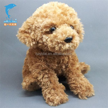 plush soft dog for wholesale,brown color dog toys supplier
