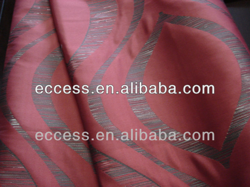 polyester viscose jacquard curtain sofa fabric with metallic