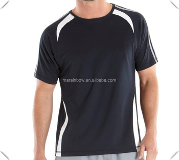 high quality men's custom made dry fit technical t shirts for running sports whoelsale in China