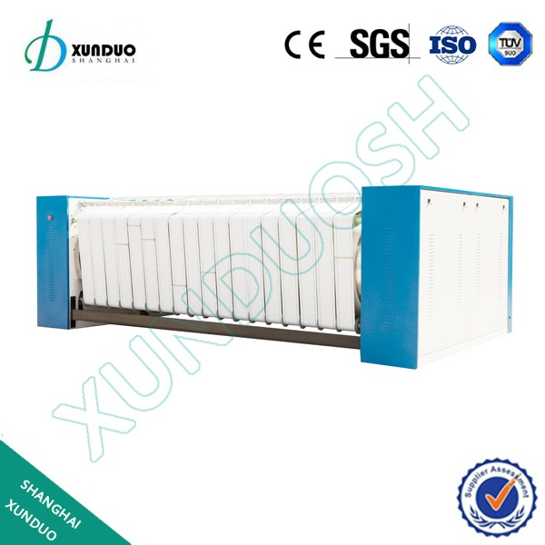 (Bedsheet, Quilt Cover, Textile, Table Cloth ironing machine) Electric, steam, gas heated commercial iron machine