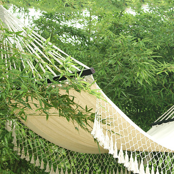 Indoor Outdoor Colorful Striped Camping Hammock For Garden Sports Home Travel Camping Swing Thick Canvas Hang Bed hammock