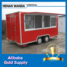 2017 New design Wanda CE China mobile food cart / stainless steel trailer / fast food car for sale