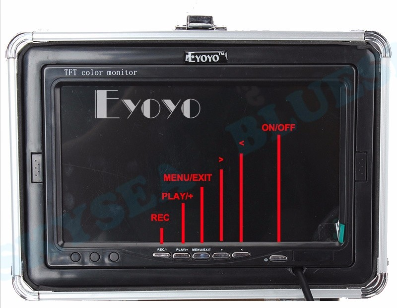 "R1112 Eyoyo 7"" HD Screen LCD 800*480p Monitor 1000TVL Fish Finder 15M Underwater Fishing Camera"