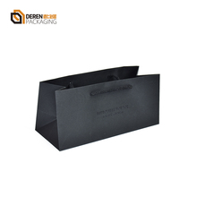 Customized black card paper shopping Gift bags for purses packaging