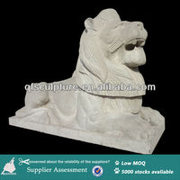 Handcarved Marble Lions Sculpture