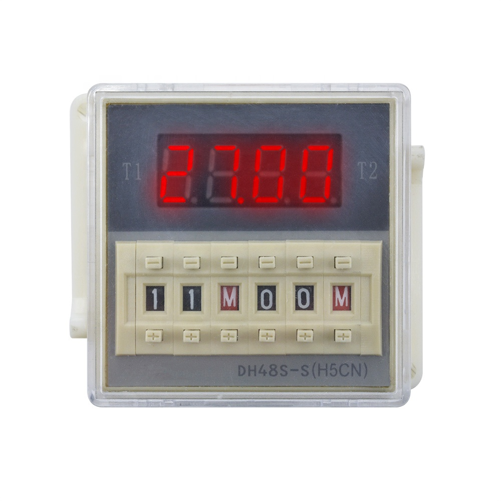 AC 220V DH48S-S Digital Precision Programmable Time Delay Relay With Socket Base