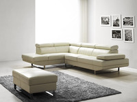 JR8040 stylish modern living room Italy genuine cow white leather soft sofa cheap sofa factory