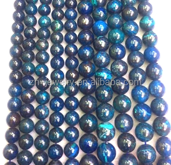 10mm naturally round azurite malachite/chrysocolla loose beads for sale