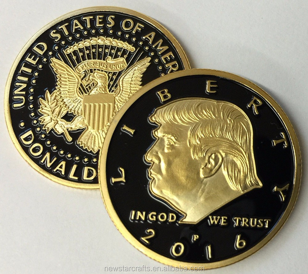 Donald Trump 24kt Gold Plated Presidential EAGLE novelty Coin