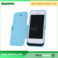 4200mah External leather battery back cover case Battery Case for iPhone5 5s 5c